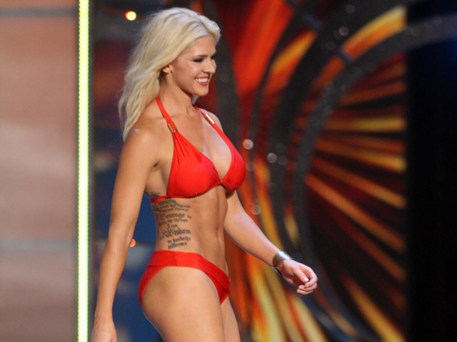 Miss Kansas Shows Tattoos At Miss America Pageant on Shoulder Tattoos For Women