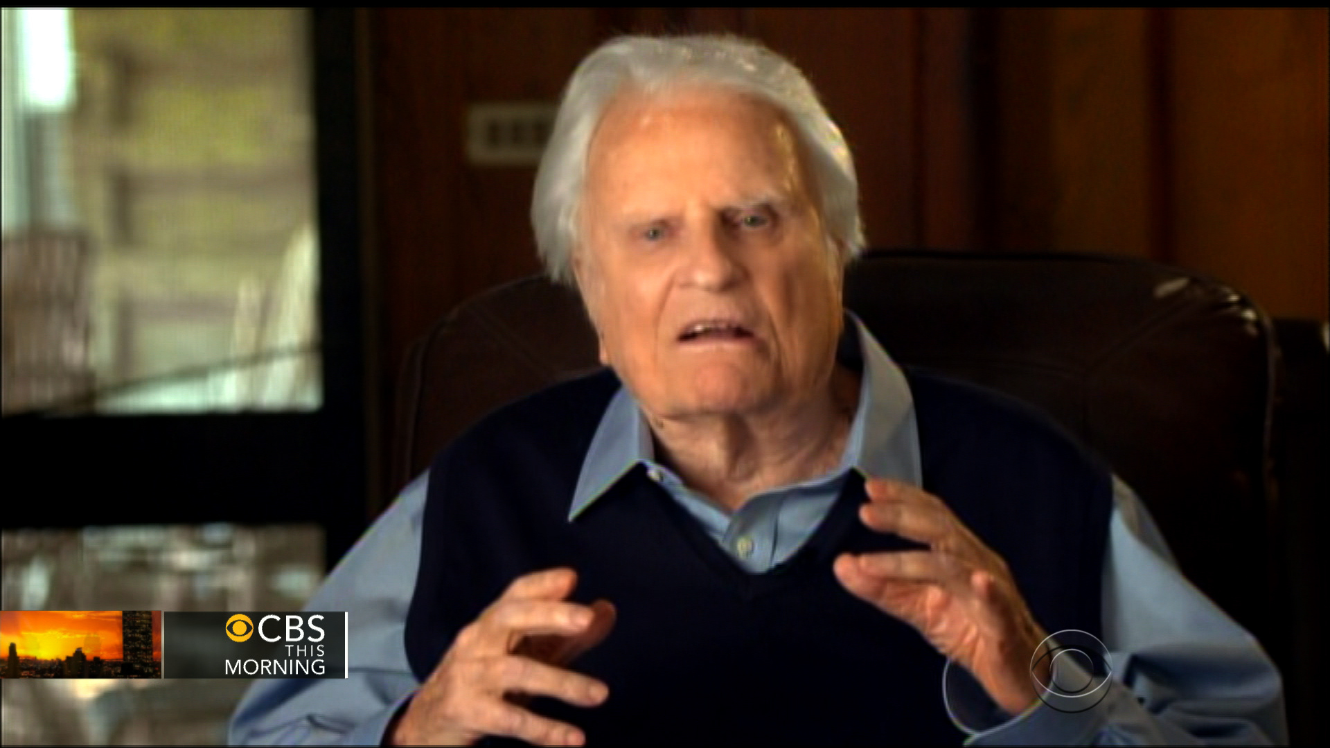 Billy Graham delivers what may be his final sermon - CBS News