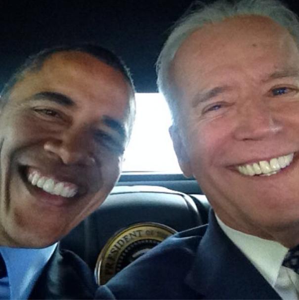 Joe Biden Dives Into Instagram With Obama Selfie