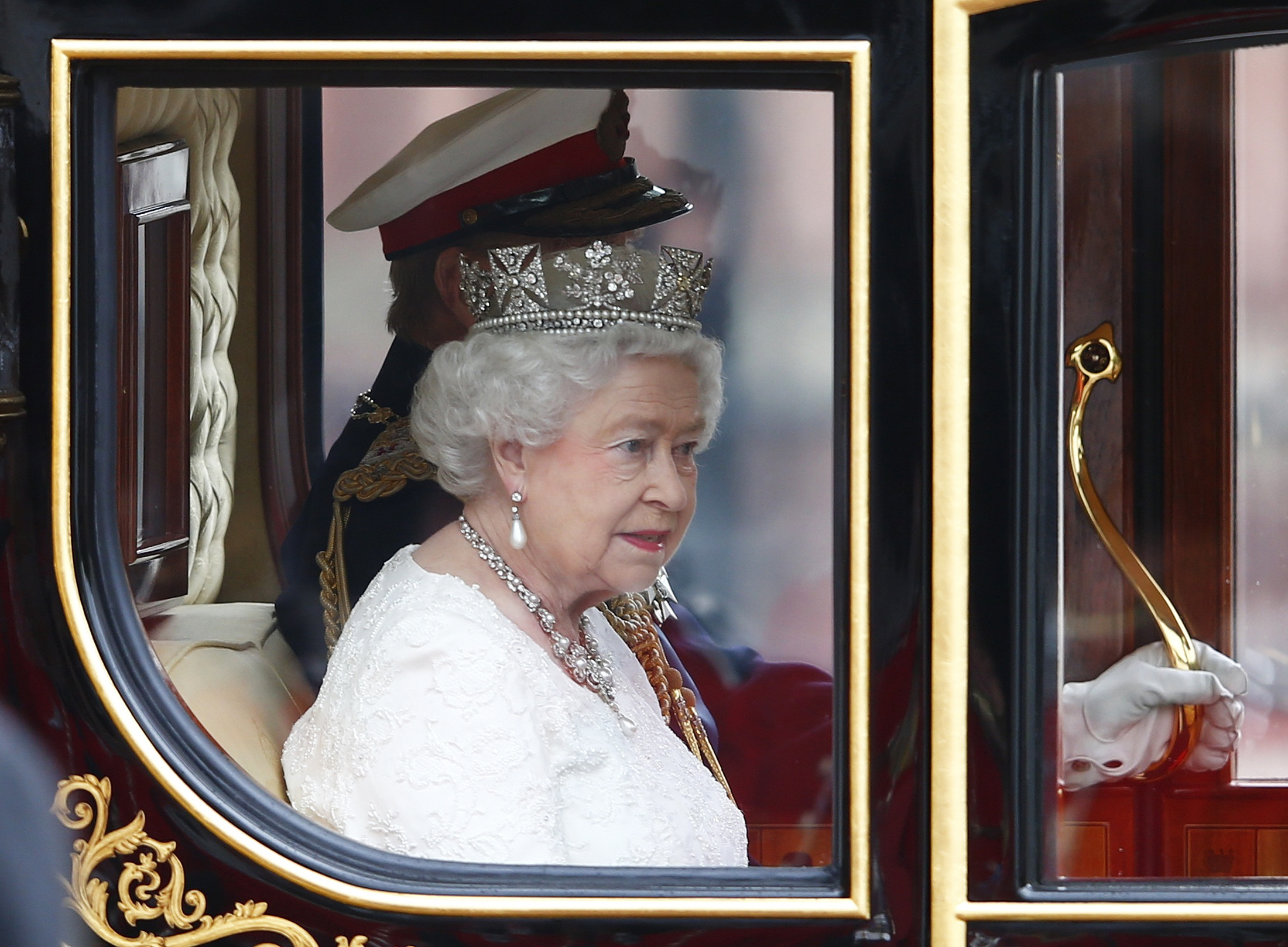 London England Queen Elizabeth Ii Attends The State