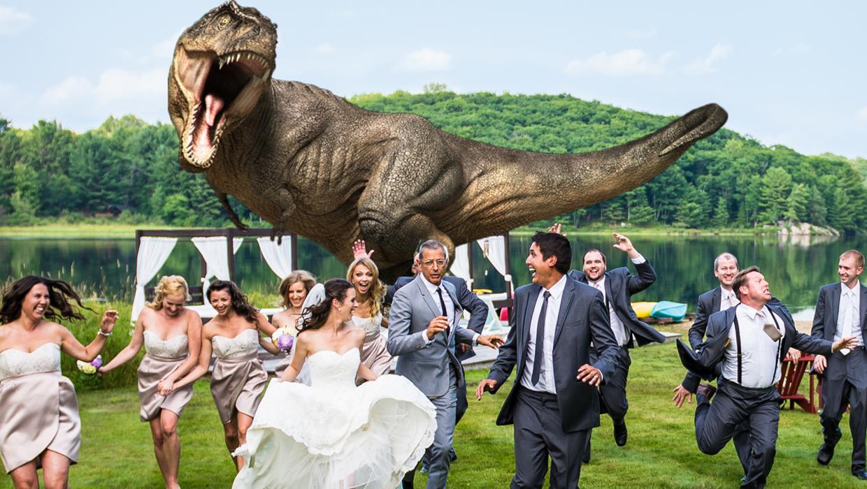 Quot Jurassic Park Quot Star Jeff Goldblum Poses For T Rex Wedding