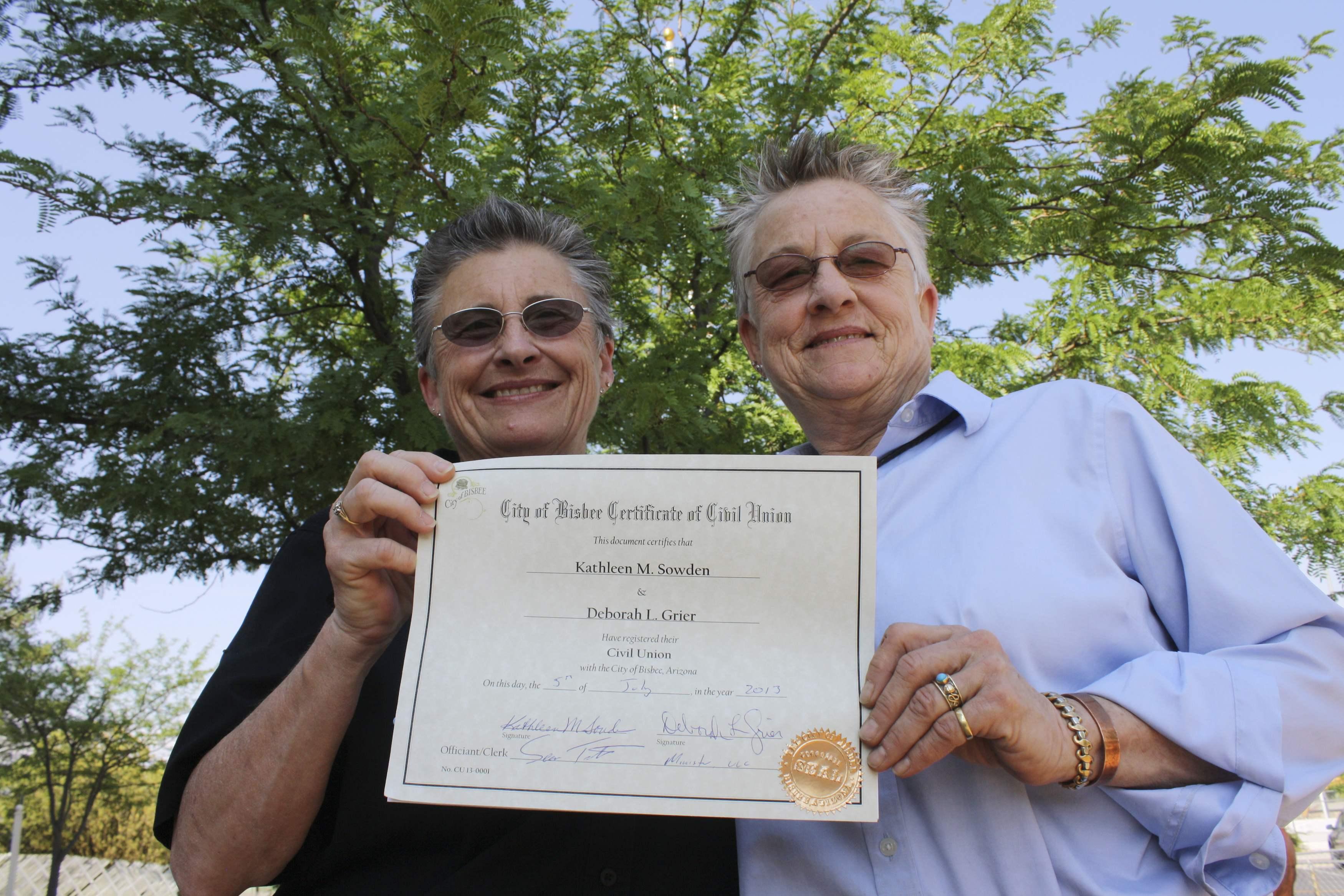 same sex marriage arizona law in Fresno