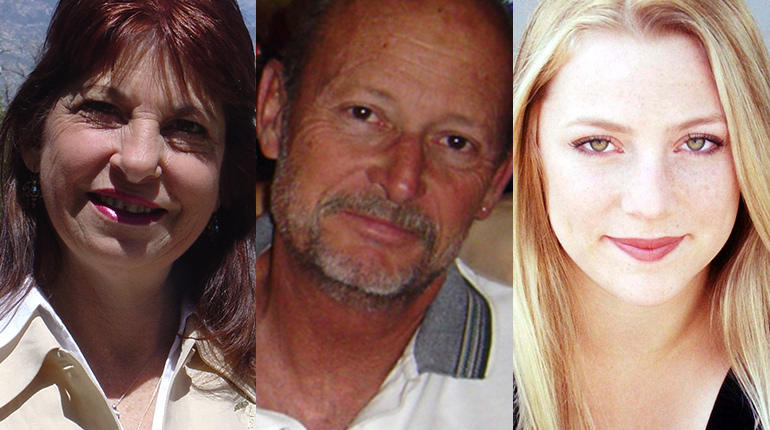 Vicki Friedli, Jon Hayward and Becky Friedli