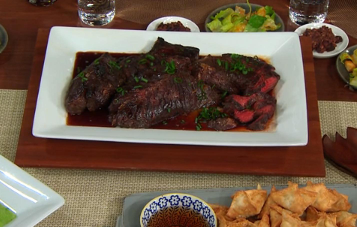 justin warner brings hanger steak to the dish cbs news. Black Bedroom Furniture Sets. Home Design Ideas