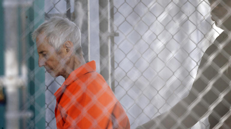 Robert Durst after his 2015 arraignment in New Orleans