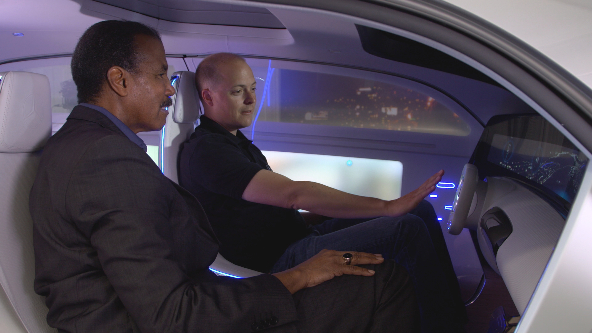 inside the self driving car of the future cbs news. Black Bedroom Furniture Sets. Home Design Ideas