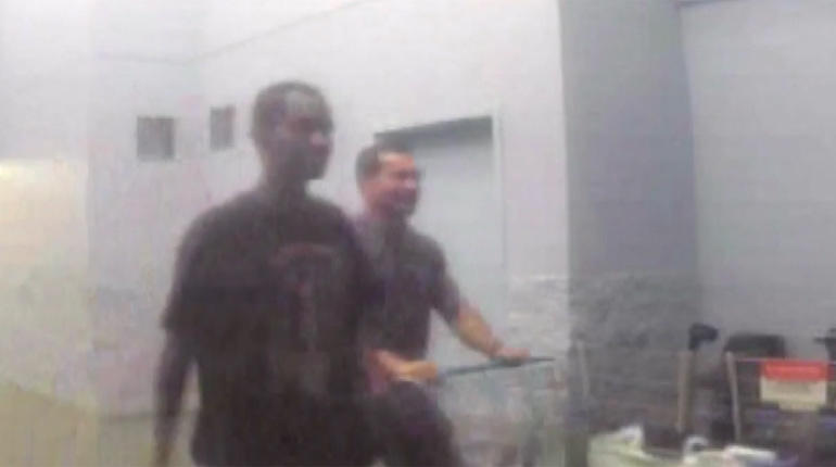 George Tiaffay and Noel Stevens seen shopping together on surveillance vide