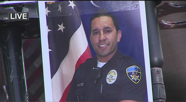 Officer ricardo galvaz found fatally shot in his car outside downey police headquarters near los - Police officer in california ...