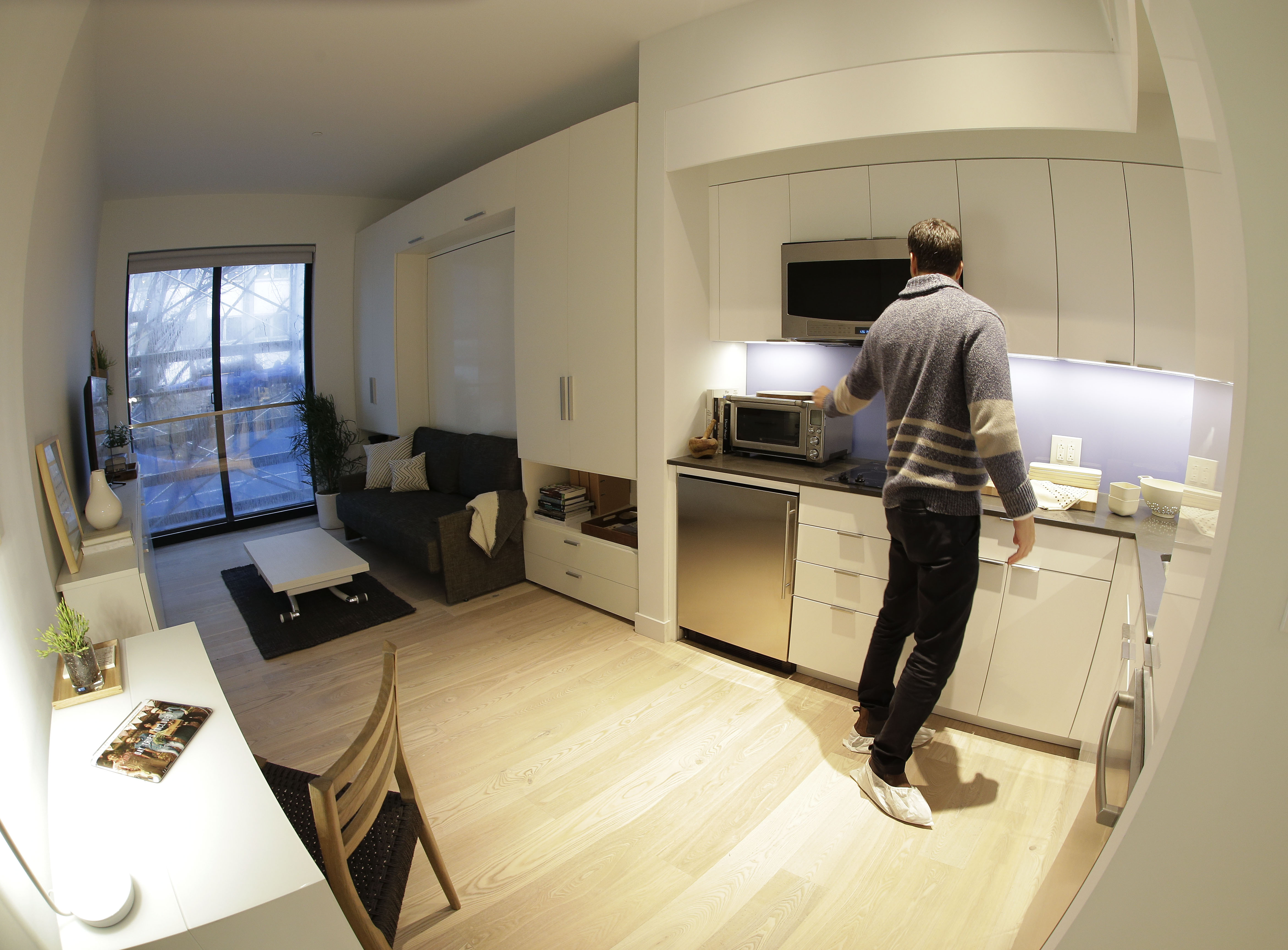 new york city may see more micro apartments cbs news. Black Bedroom Furniture Sets. Home Design Ideas