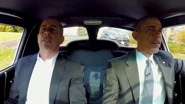 President Obama Goes For A Drive With Jerry Seinfeld