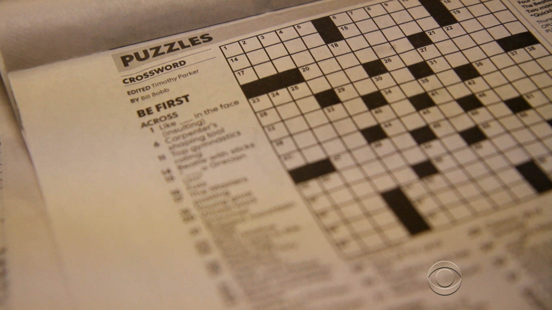 Crossword puzzle: Do clues reveal plagiarism? - CBS News