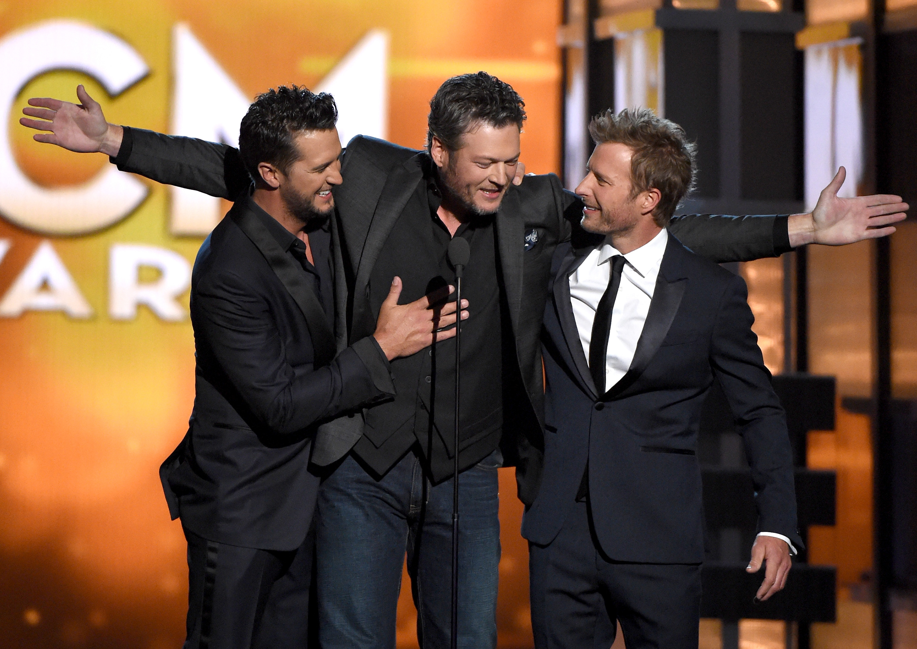 Luke Bryan Blake Shelton And Dierks Bentley 2016 Acm