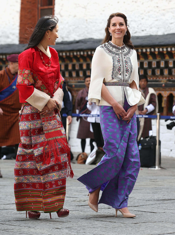 Kate S Fashion In Bhutan Kate S Stunning Fashion