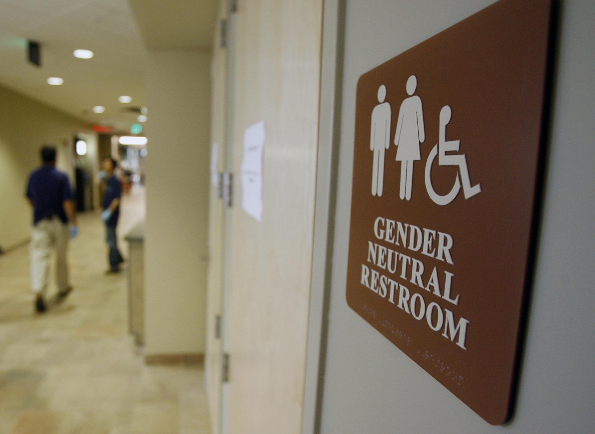 california approves genderneutral bathrooms  cbs news, Bathroom decor