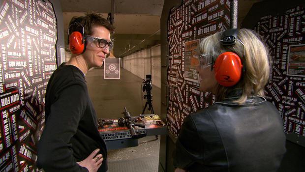 rachel maddow rita braver at gun range 620 - Rachel Maddow, storyteller and gun lover