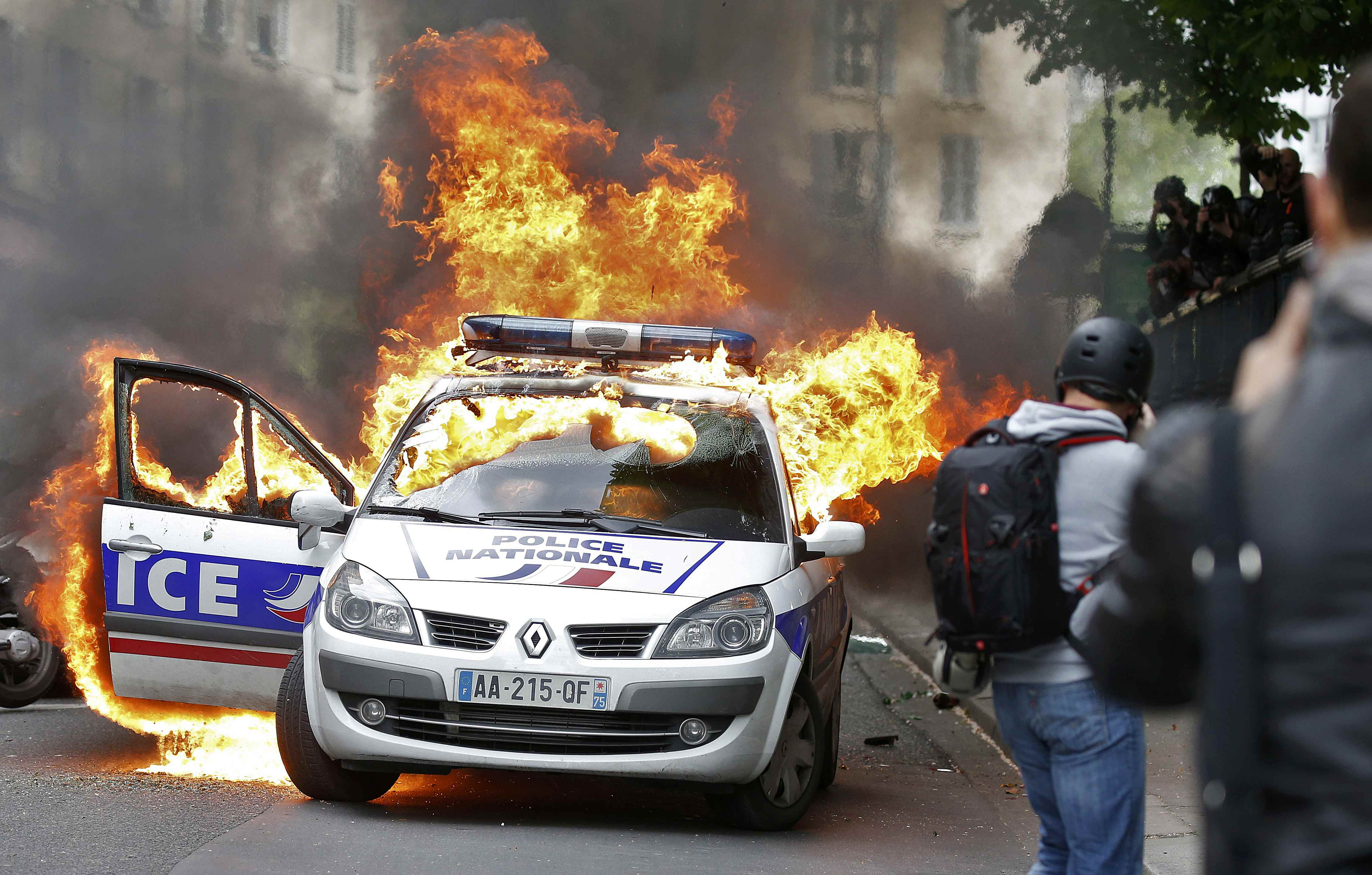 Cars torched, officers injured as anti-police violence sweeps France