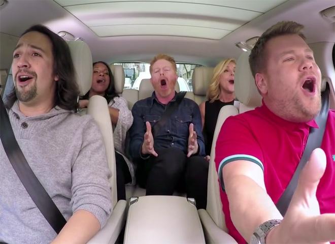 James corden brings carpool karaoke to broadway cbs news for Car pool karaoke show