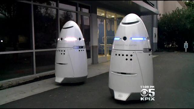 robot cop at calif mall strikes child cbs news