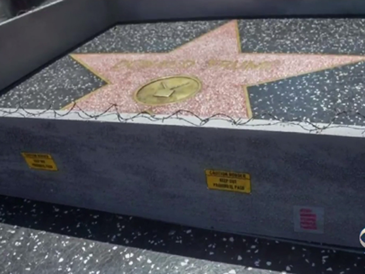 Protester uses Donald Trump Hollywood Walk of Fame star to mock him - CBS News