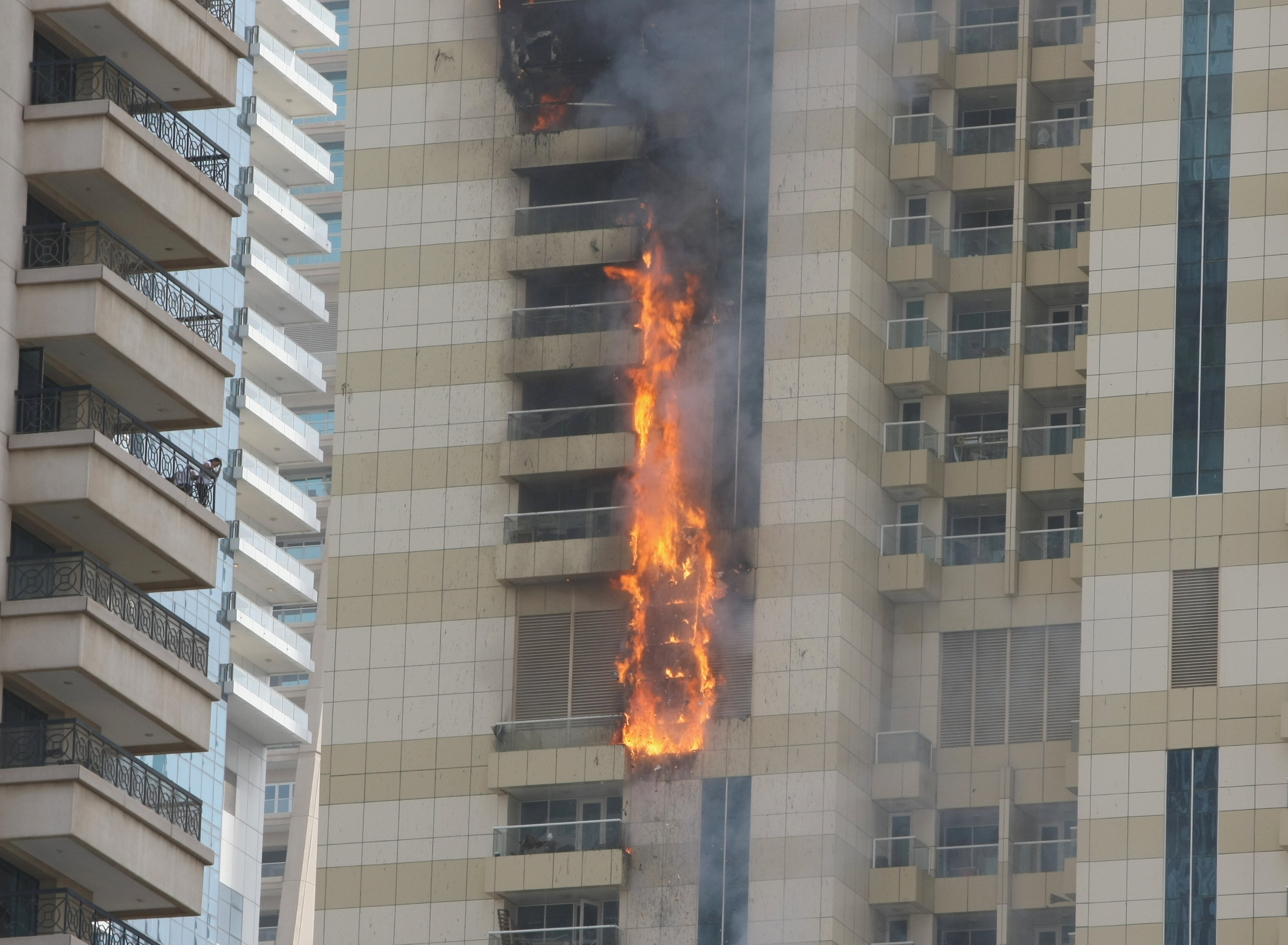 Dubai Skyscraper Fire Extinguished After Flames Char 30