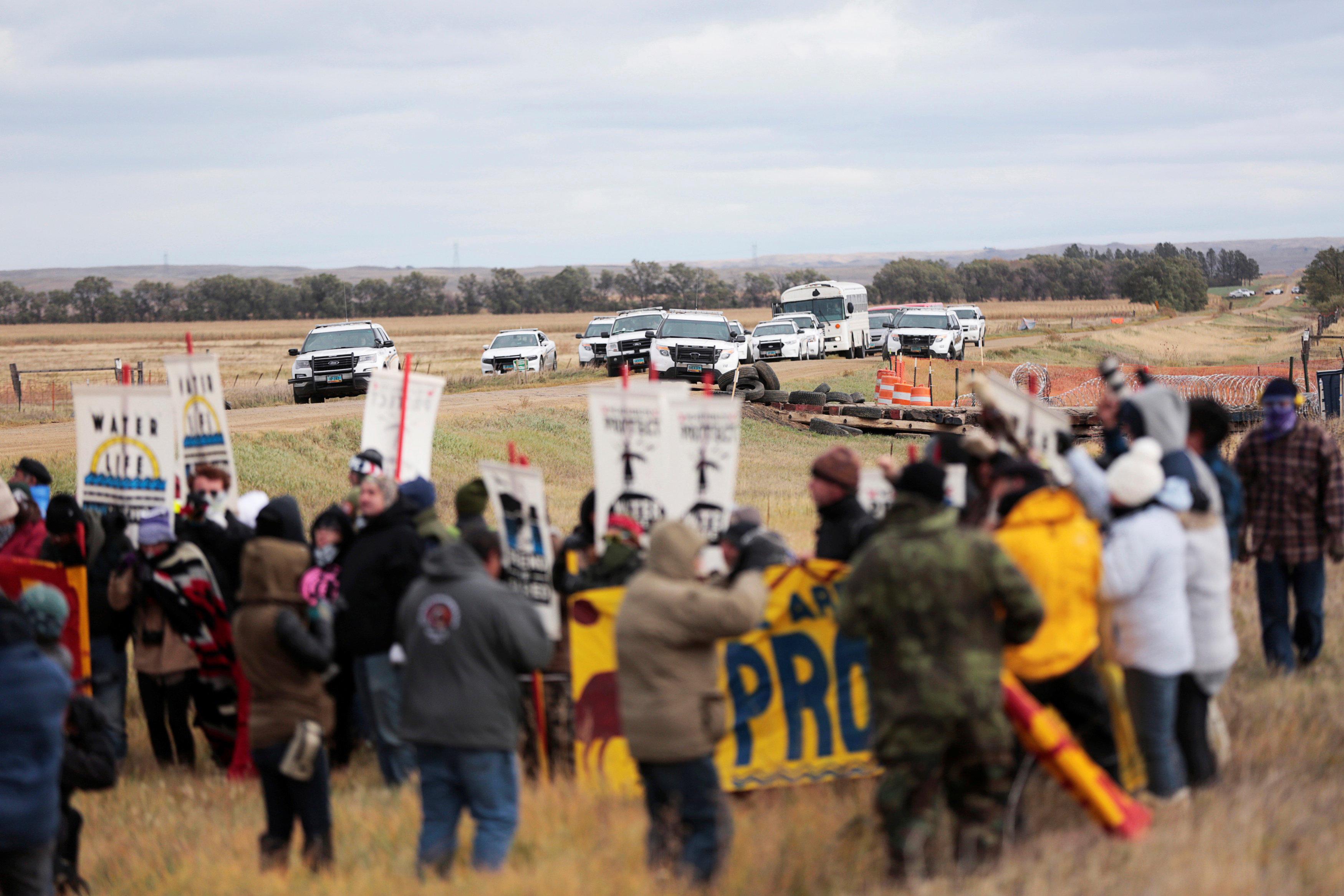 Dakota Access Pipeline Protest Private Property