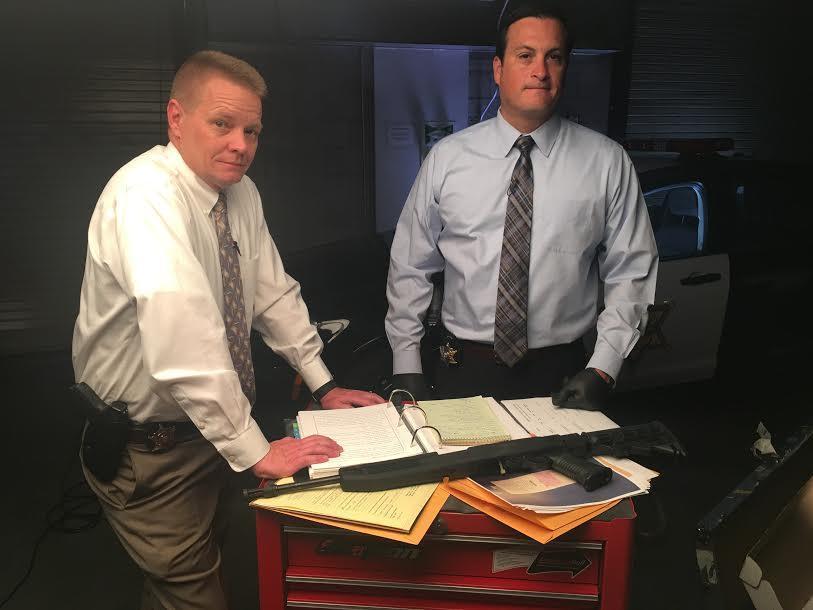 Investigators Mike Thompson and Justin Montano
