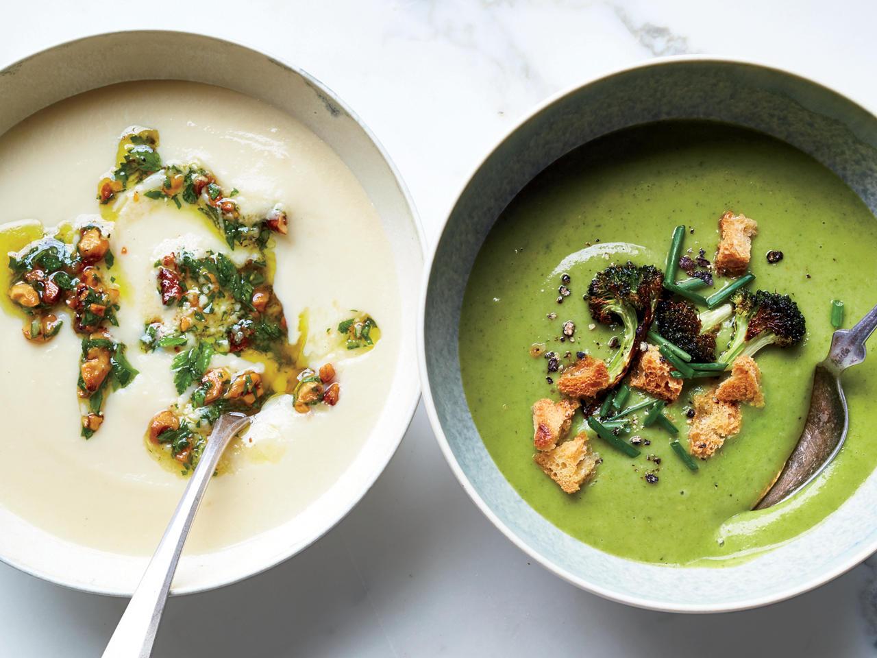 Recipe: Broccoli-Spinach Soup with Crispy Broccoli Florets and ...