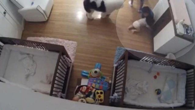 Caught On Tape 9 Year Old Boy Catches Baby Brother In