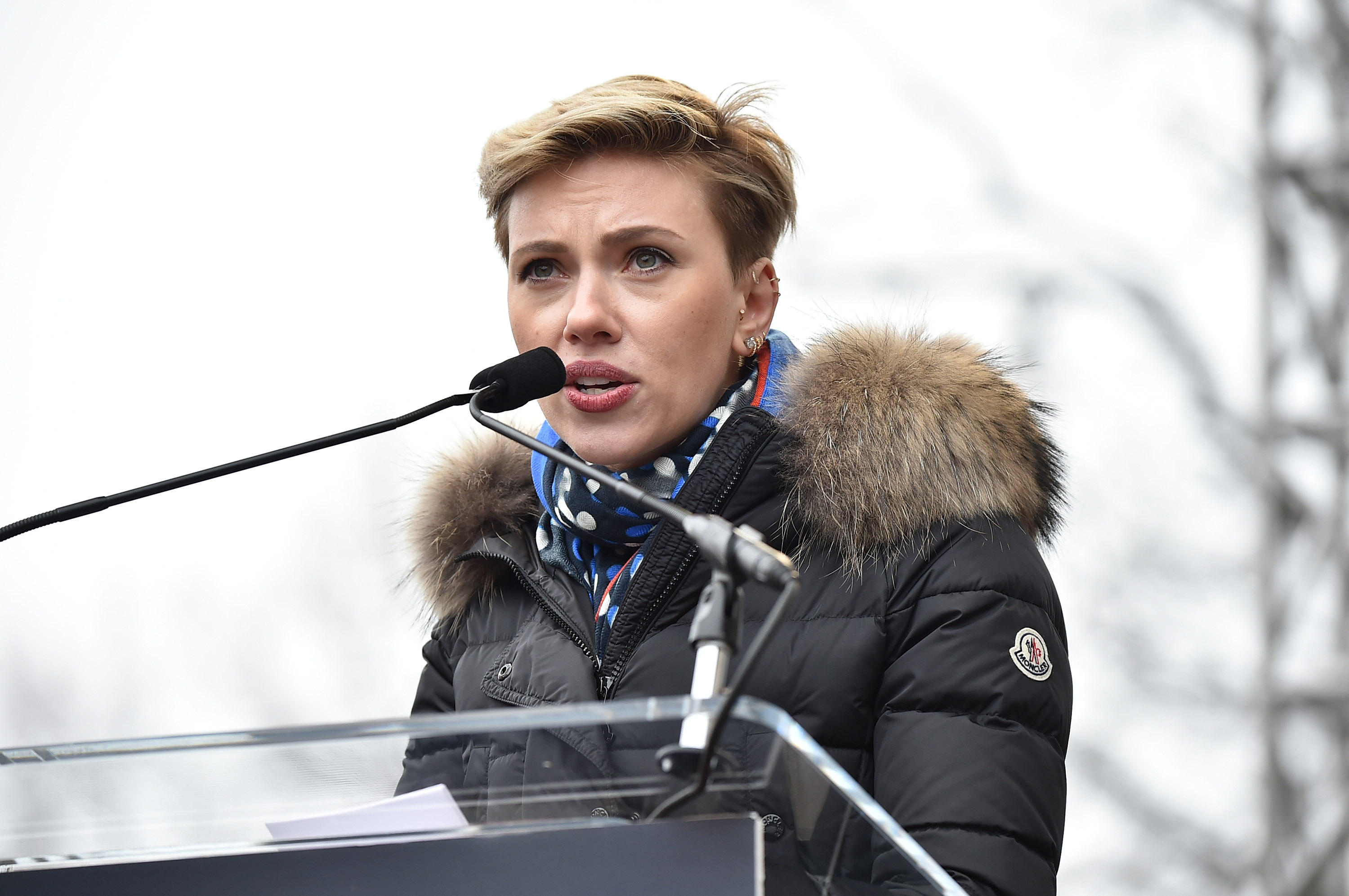 Scarlett Johansson Celebrities Attend Womens Marches