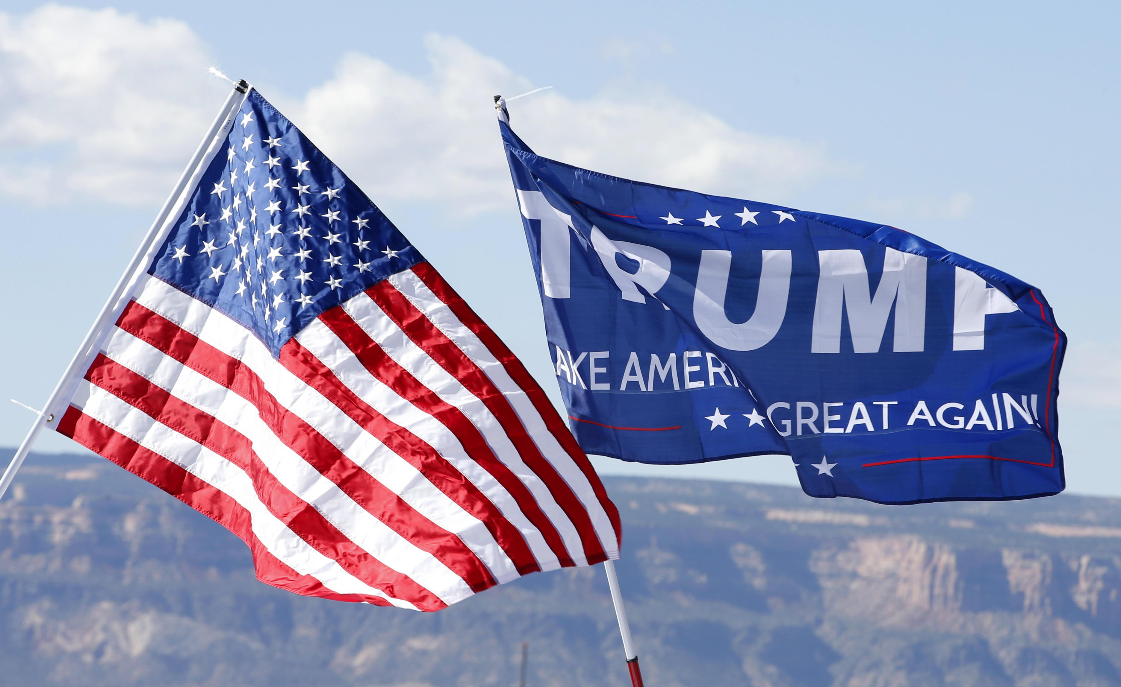 Trump campaign flag on Kentucky convoy sparks Navy ...