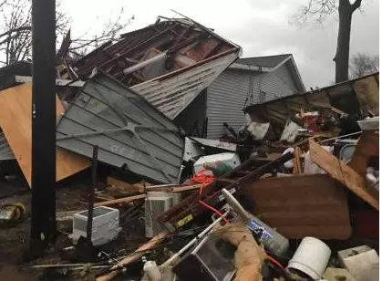 Storm system poses risk to 45 million people from Texas to Ohio