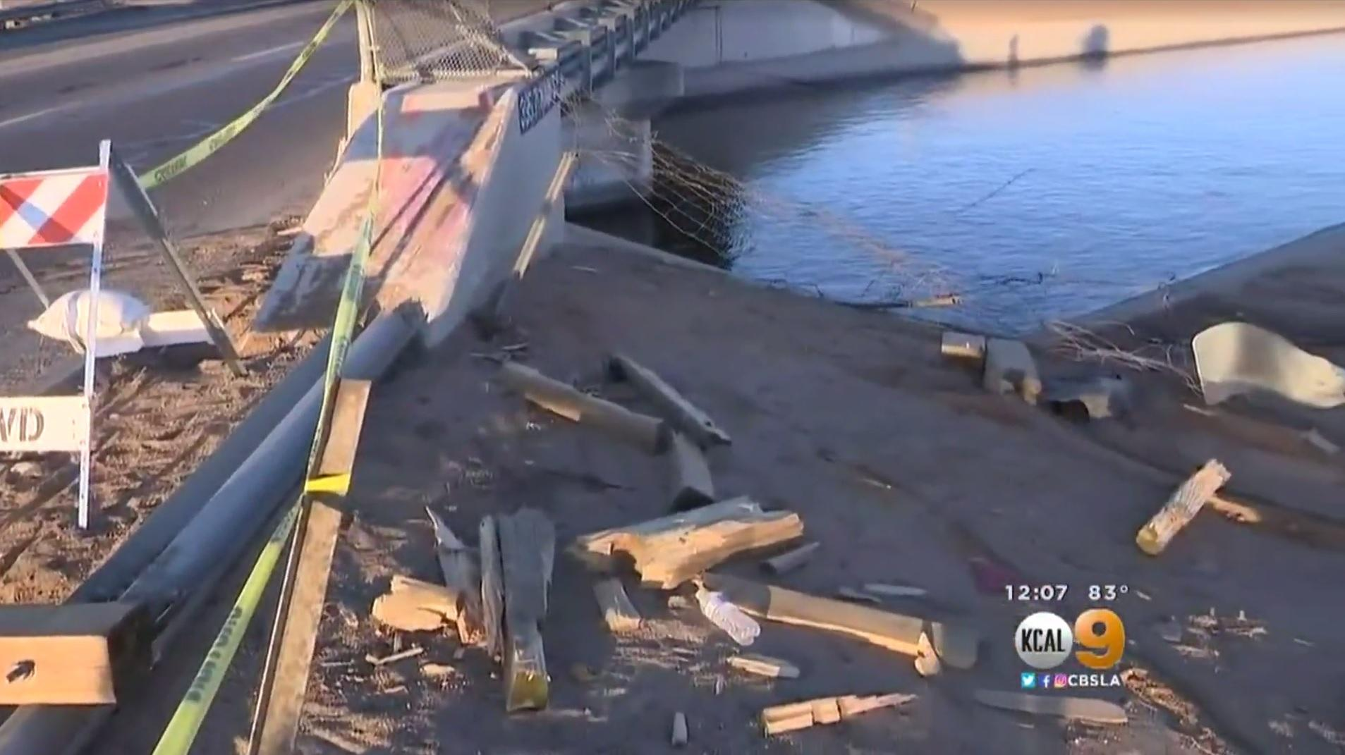 mother son killed  car plunges  california aqueduct cbs news