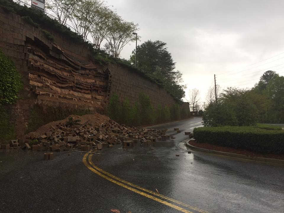 large tornado touches down in georgia as storms batter