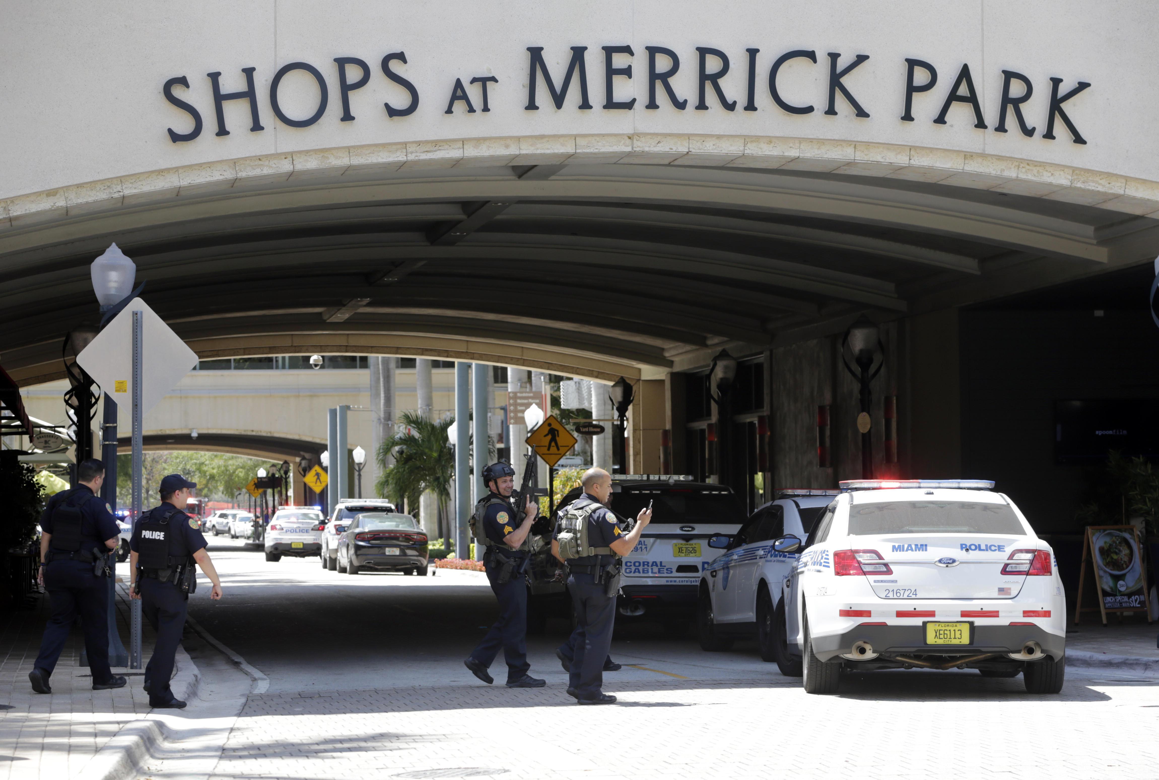 dde0dda20026d Police patrol outside of the Shops at Merrick Park after a shooting