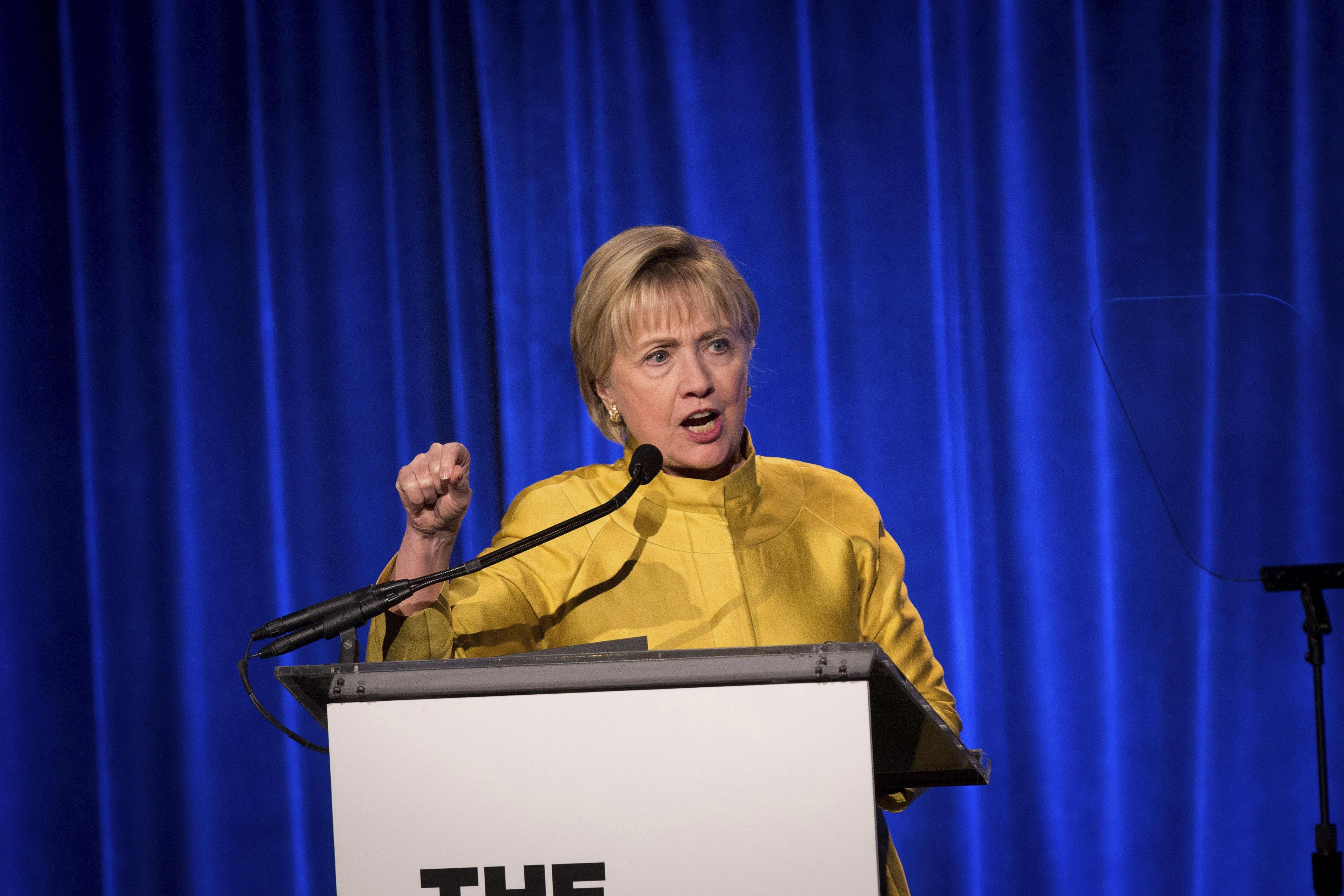 photo image Hillary Clinton warns LGBT progress may not be secure under Trump