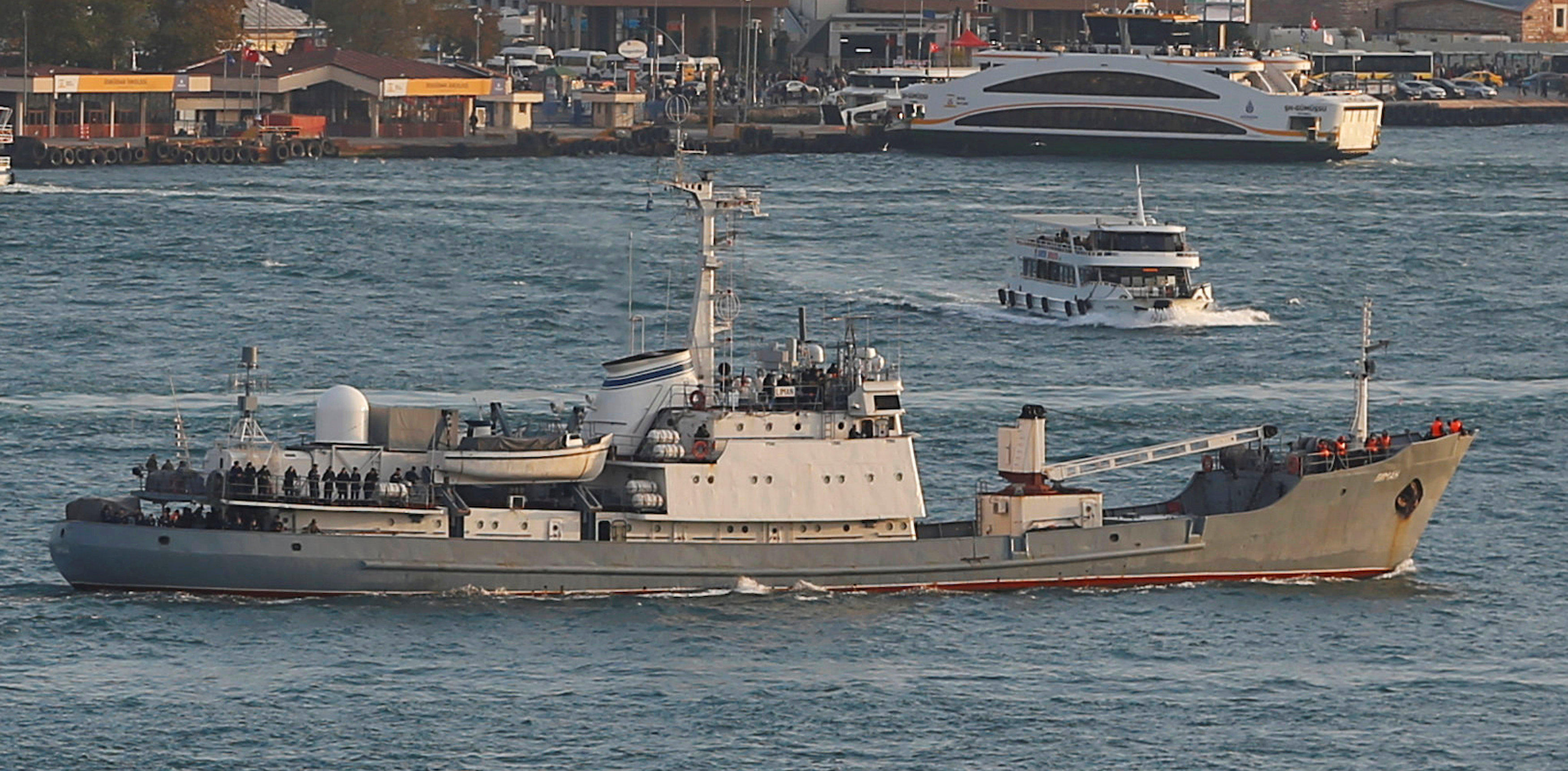 Russian Navy Reconnaissance Ship Liman Collides With