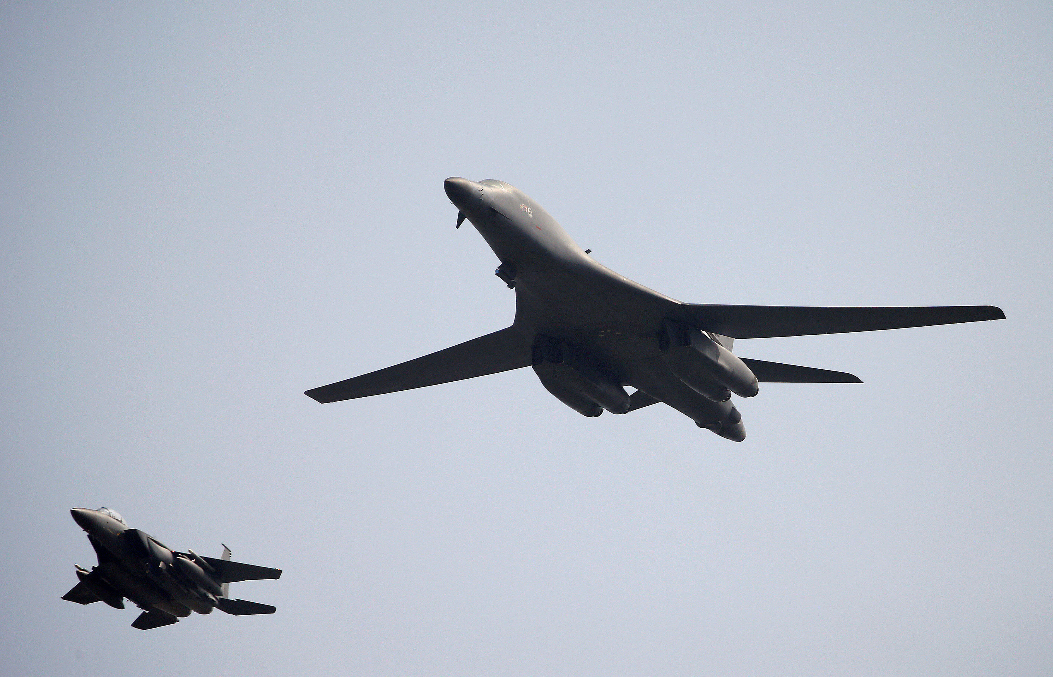 US B-1 bombers fly near North Korea