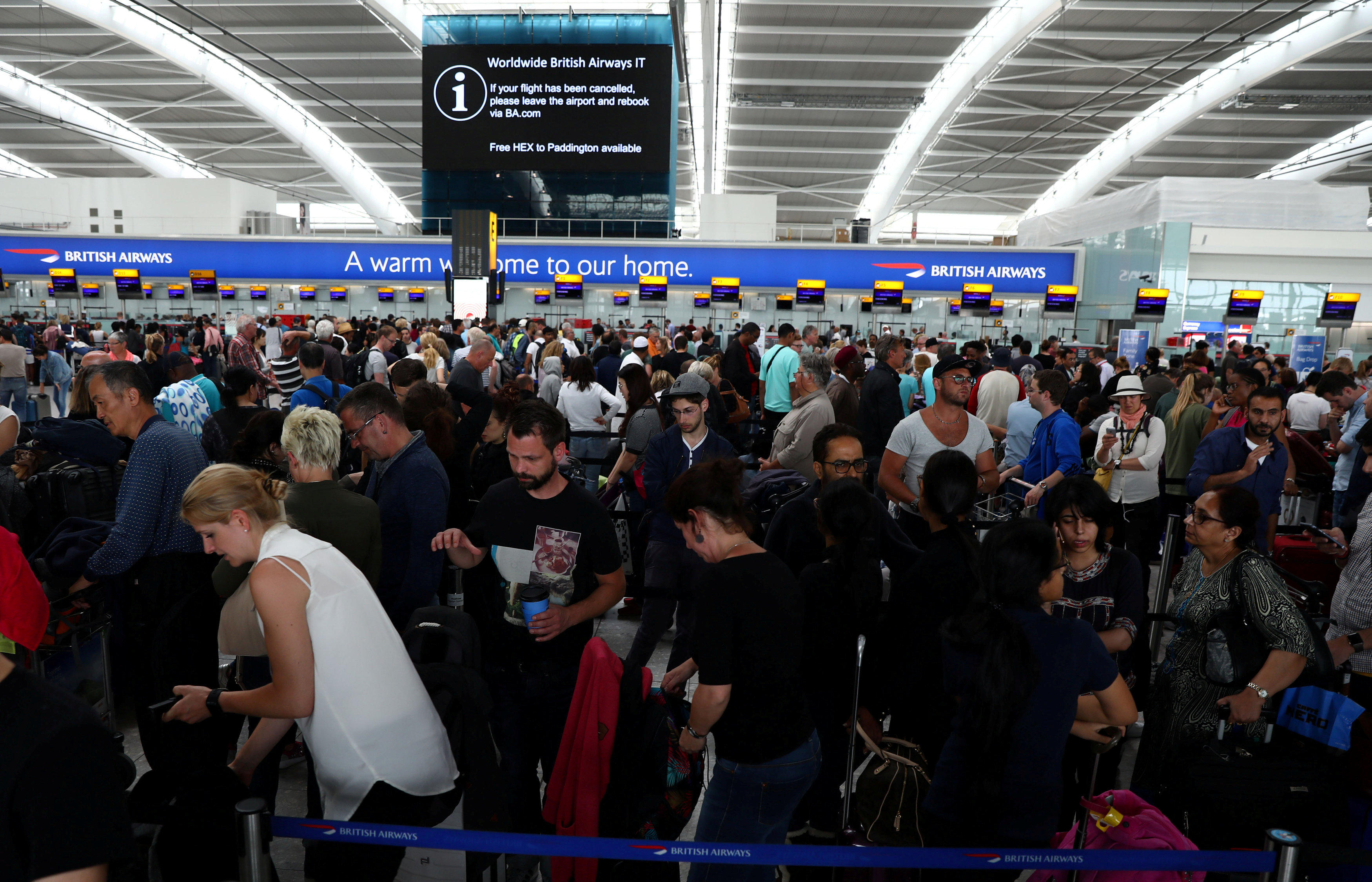 British Airways travelers face third day of delays, cancellations after computer meltdown