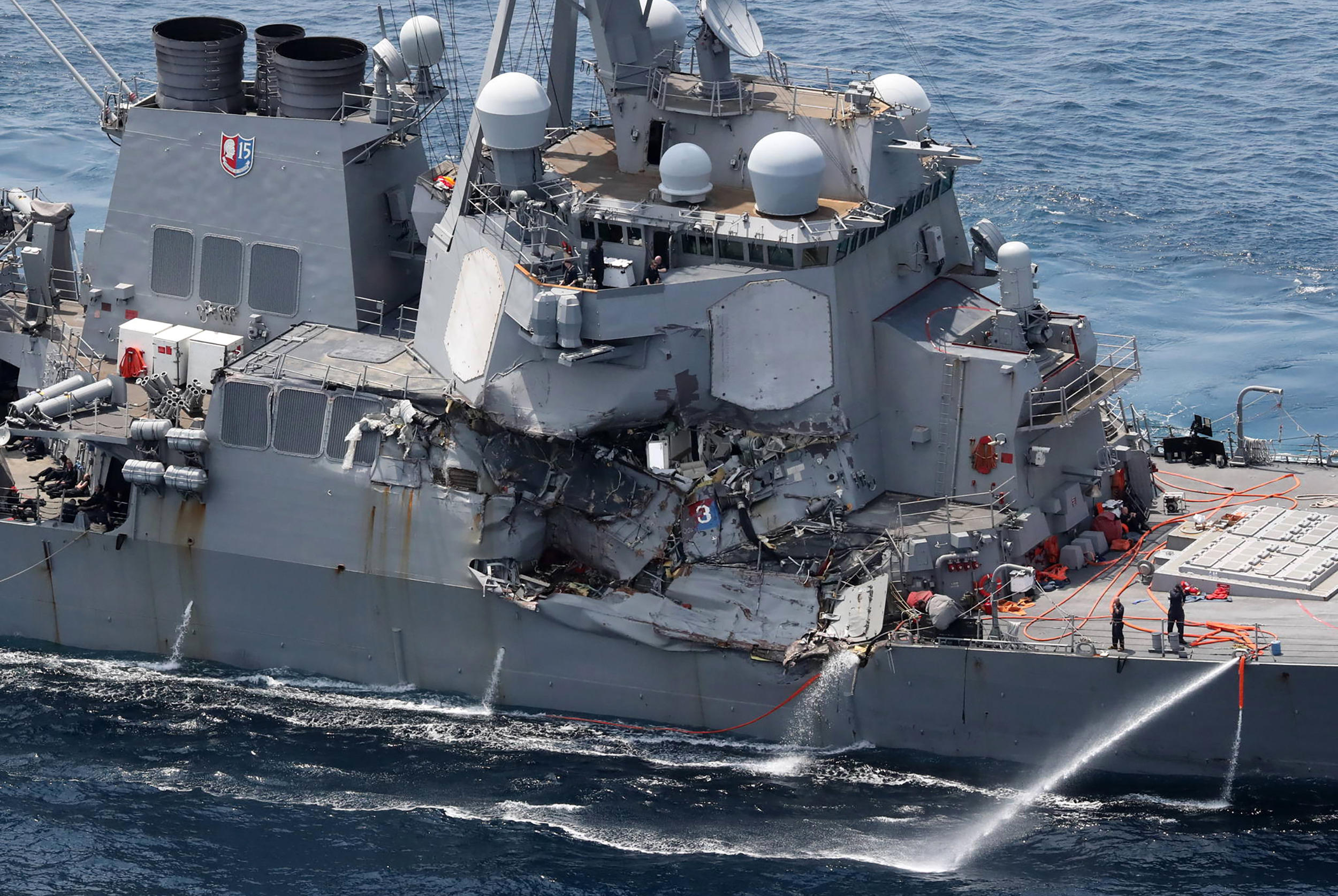 US Navy identifies 7 sailors who died in destroyer collision