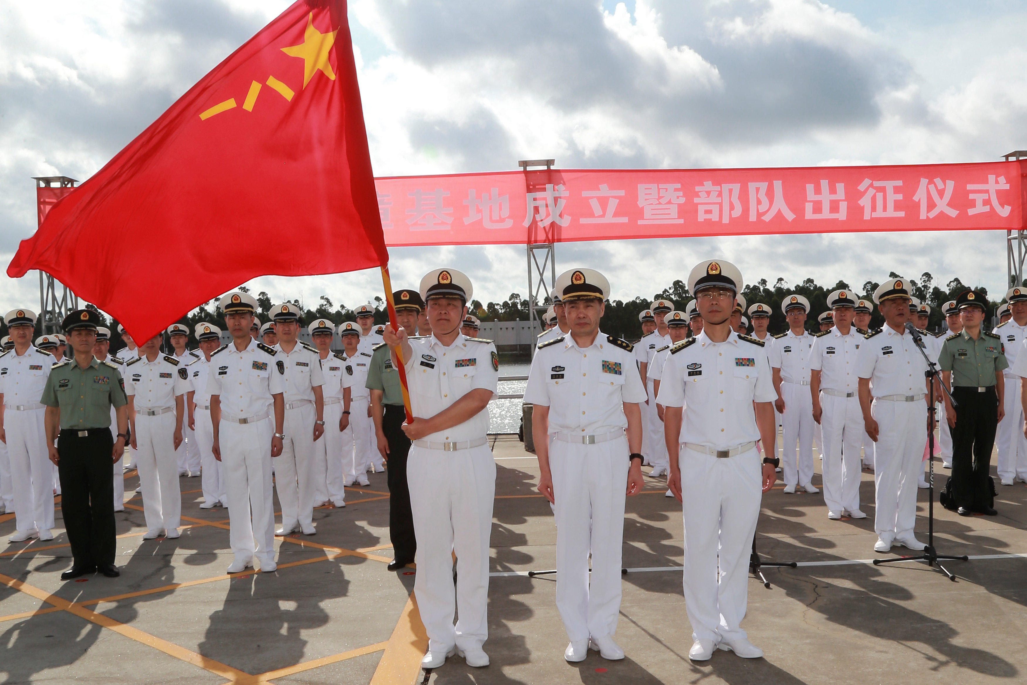 China sends forces to first military base abroad