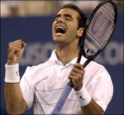 pete sampras essay The life of roger federer essayroger federer (german pronunciation: [ fe d r r] born 8 at wimbledon with pete sampras (7) and at the us open with jimmy connors and sampras (5) federer has appeared in 24 men's grand slam finals.