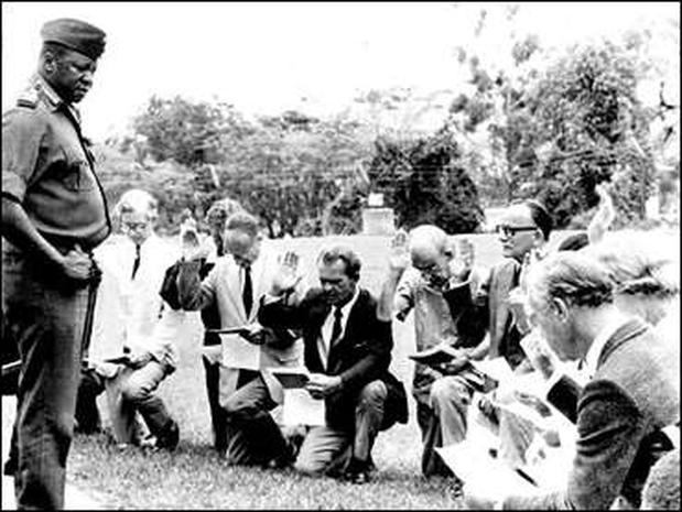 Image result for idi amin makes white men kneel