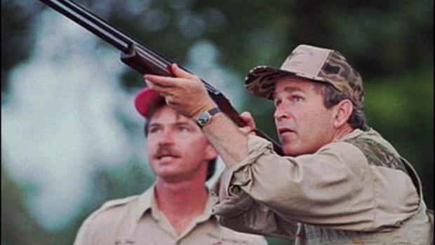 Bush Hunts, Fishes For Votes - CBS News George W Bush Hunting