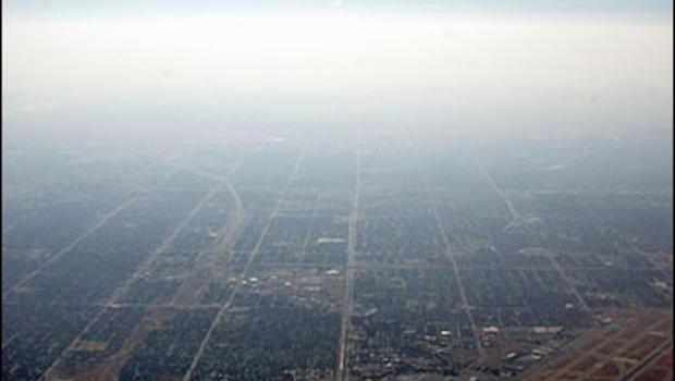 Smog over Fresno, CA