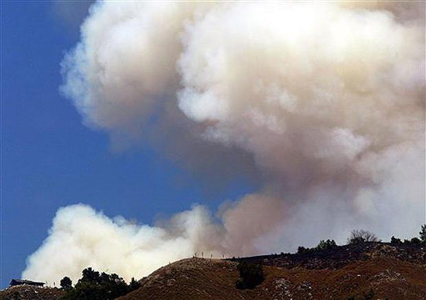 Lightning Sparks Calif. Fires