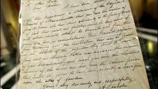 famed lincoln letter found in texas cbs news