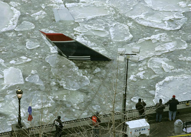 Submerged jet pulled from river