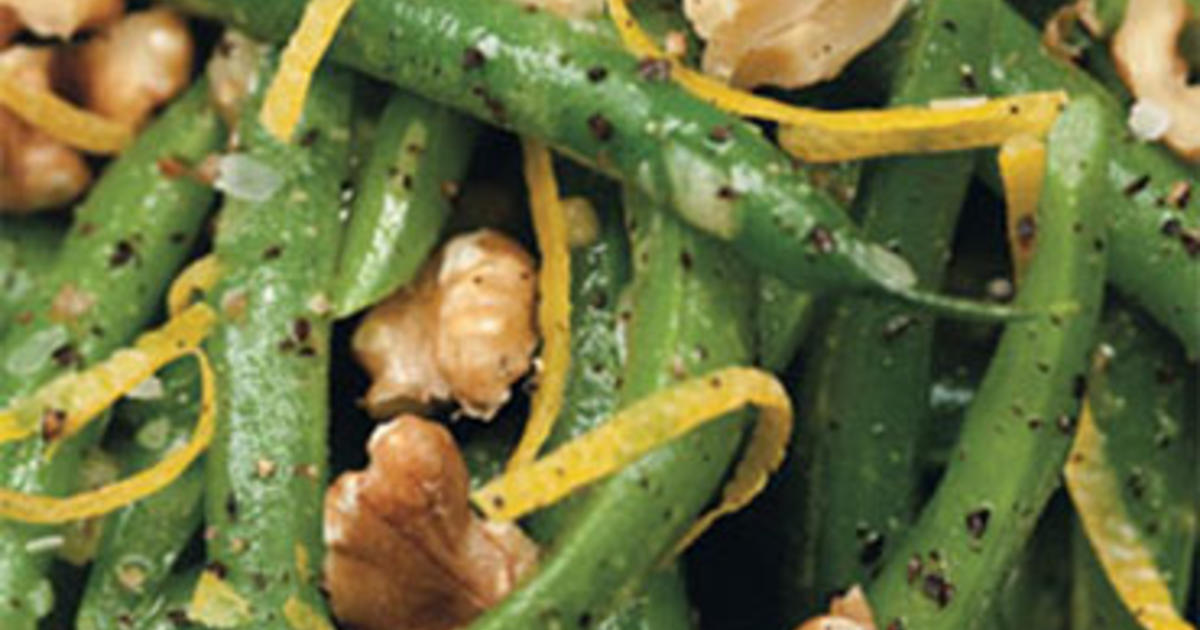 Green Beans, Walnuts & Lemon Vinaigrette - CBS News