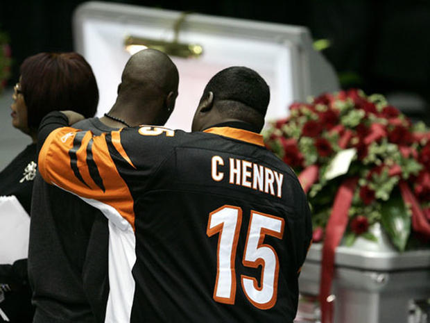 Chris Henry Remembered at Funeral