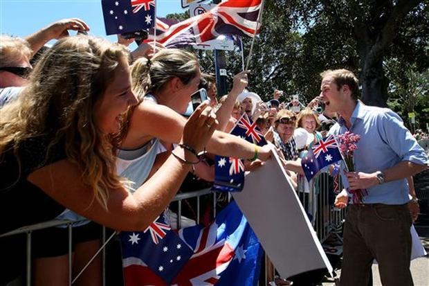 Prince William Visits Australia